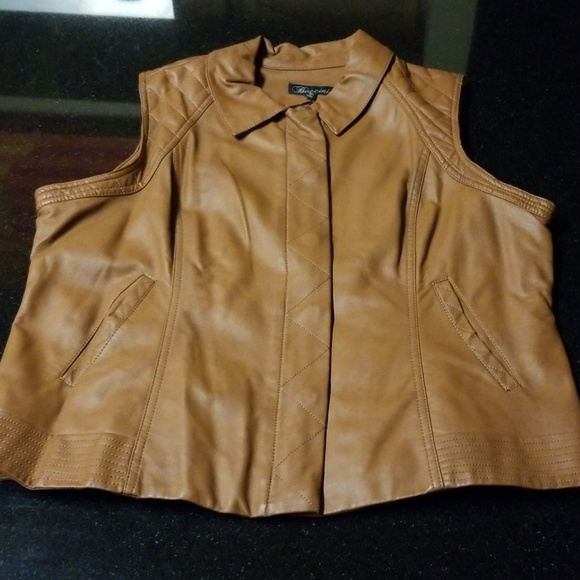 Baccini Jackets & Blazers - Baccini Faux Leather Vest